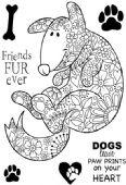 Woodware - Decorative Dog Clear Magic Stamp Set - JGS584
